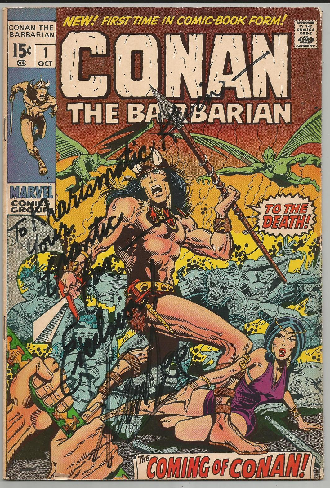 Kevin Eastman's copy of Conan the Barbarian #1, signed by Stan Lee