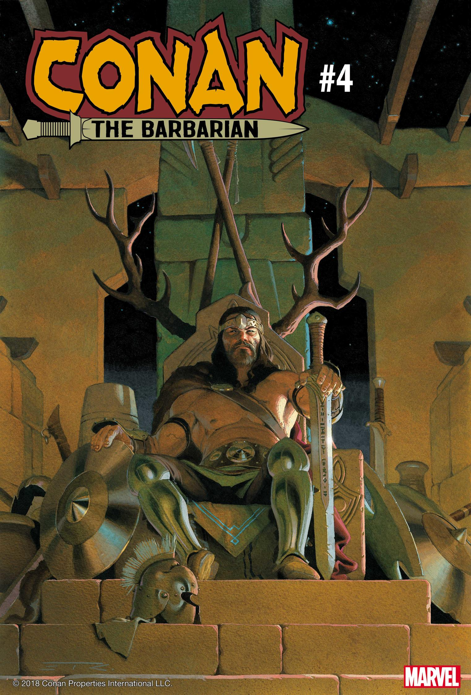 Cover of Conan the Barbarian #4