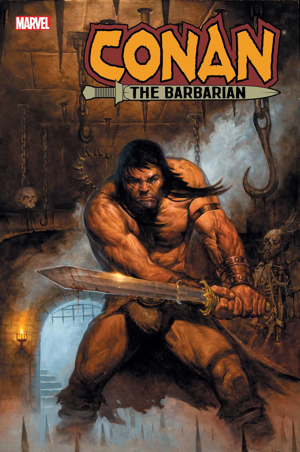 CONAN THE BARBARIAN #13 cover by E.M. Gist