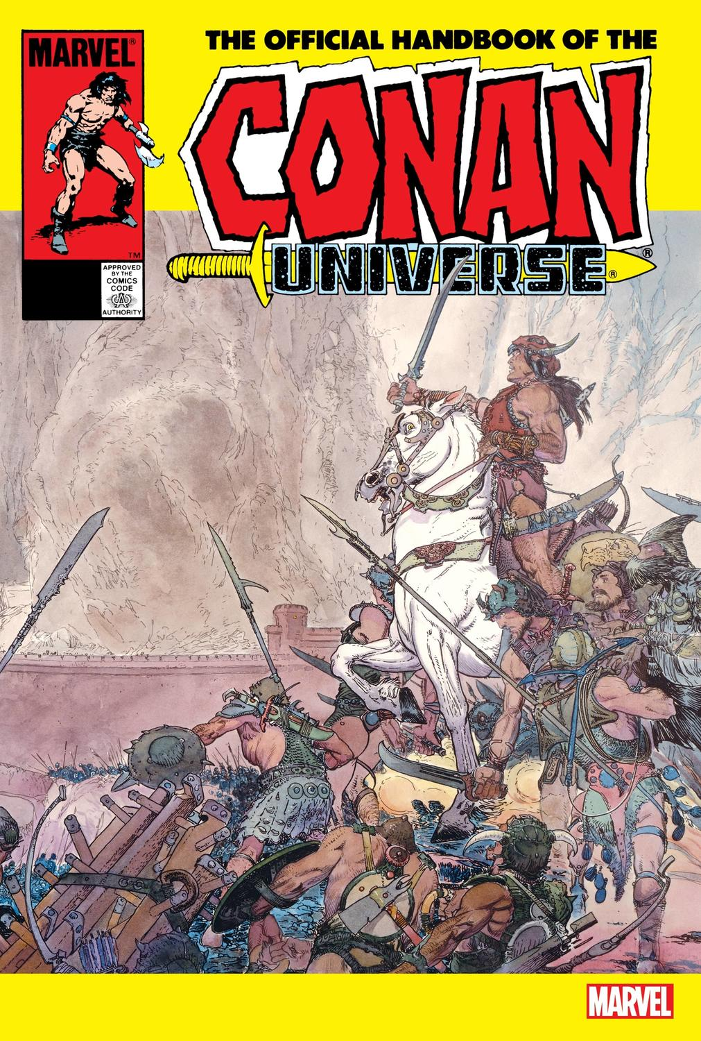 THE OFFICIAL HANDBOOK OF THE CONAN UNIVERSE ANNIVERSARY EDITION WRITTEN BY ALAN ZELENETZ, COVER BY MICHAEL KALUTA