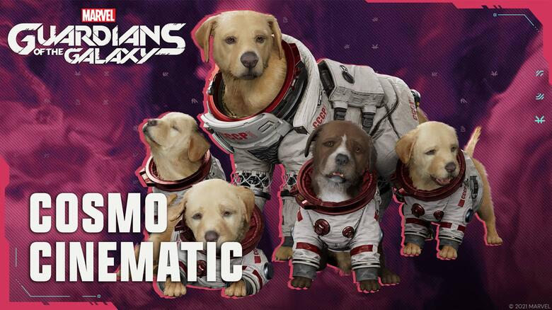 Get a Closeup of Cosmo the Spacedog in the Latest Cutscene for 'Marvel's Guardians of the Galaxy'