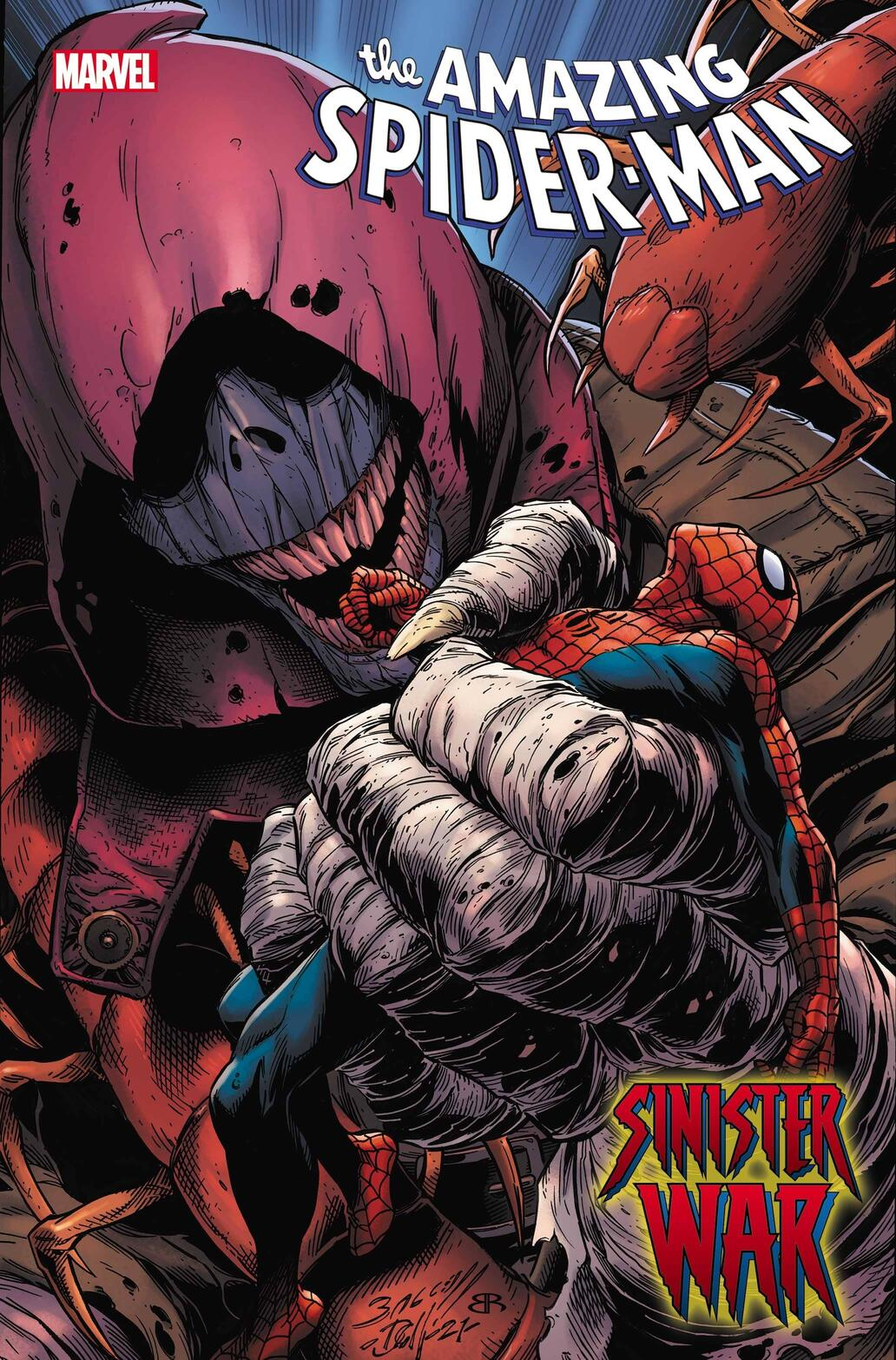Cover to AMAZING SPIDER-MAN #71 by Mark Bagley, on sale in comic shops July 21.
