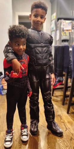Spider-Man (Miles Morales) and The Falcon (Sam Wilson) Cosplay