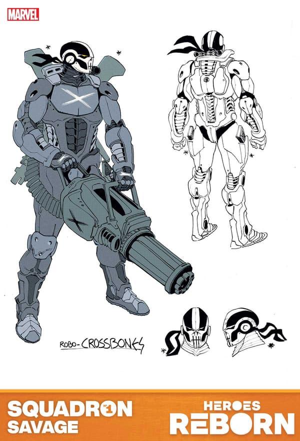 HEROES REBORN (2021) Crossbones Design by Luca Pizzari