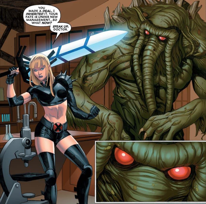 Magik versus Man-Thing!