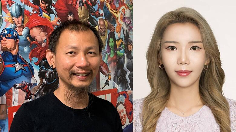 """MARVEL Future Fight Luna Snow """"Fly Away"""" Songwriting Team Danny Koo & Lucy"""