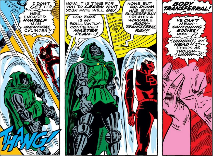 daredevil and Doctor Doom swap