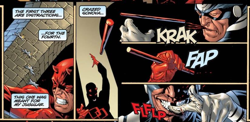 Daredevil Guardian Devil Bullseye fight