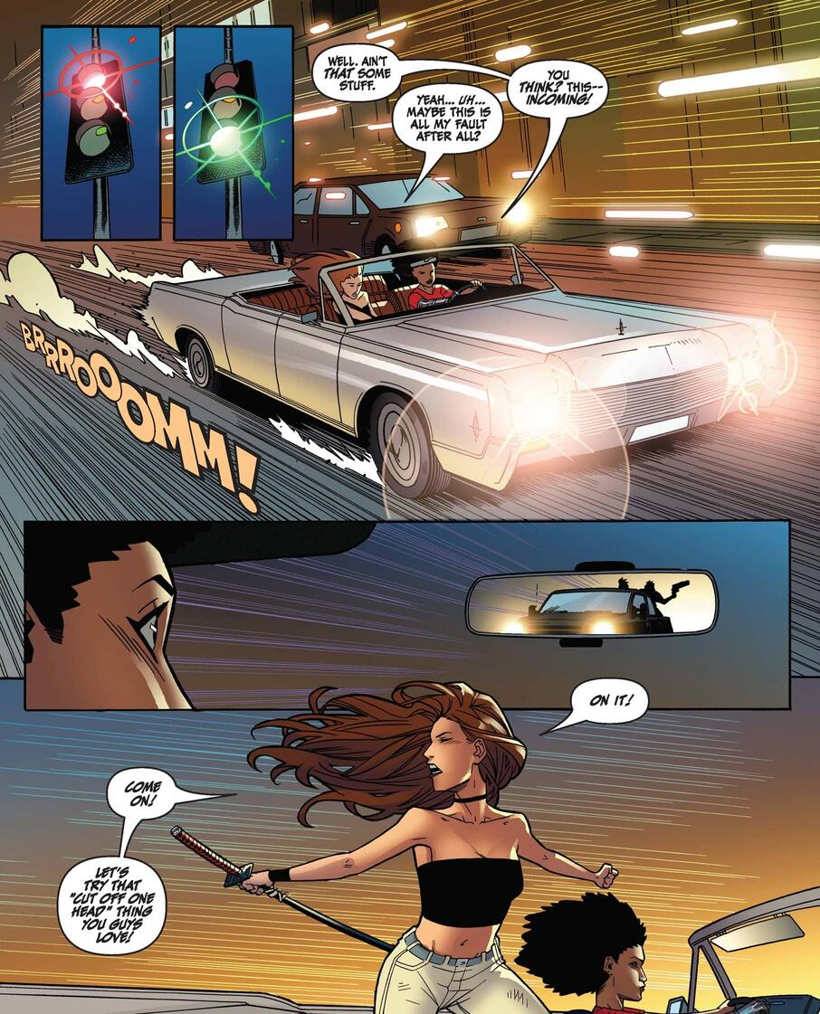 Colleen in action in DAUGHTERS OF THE DRAGON: MARVEL DIGITAL ORIGINAL (2018) #2.