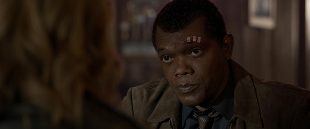 Nick Fury in Captain Marvel