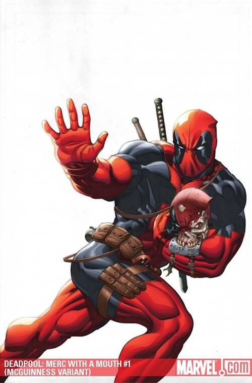 DEADPOOL: MERC WITH A MOUTH (2009) #1 variant cover by Ed McGuinness