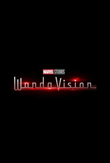 WandaVision TV Show Season 1 Logo On Black