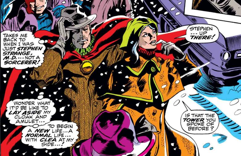 Doctor Strange and Clea at New Year's
