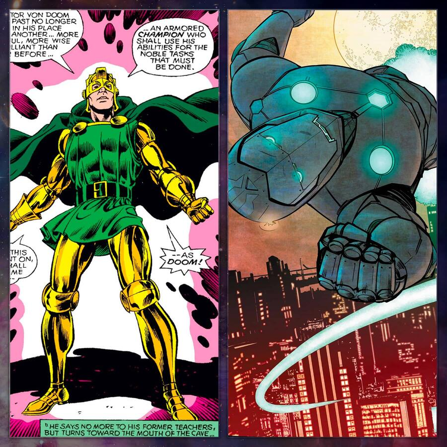 Doctor Doom tries being a hero on for size.