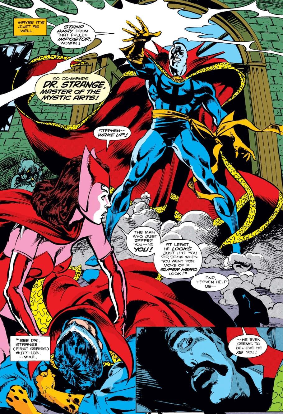 Doctor Strange versus the Necromancer in DOCTOR STRANGE, SORCERER SUPREME (1988) #46.