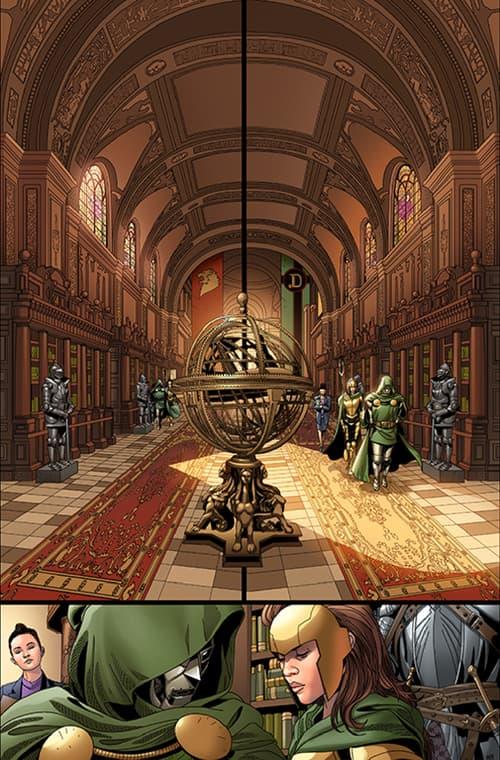 DOCTOR DOOM #1 interiors by Salvador Larroca and Guru-eFX