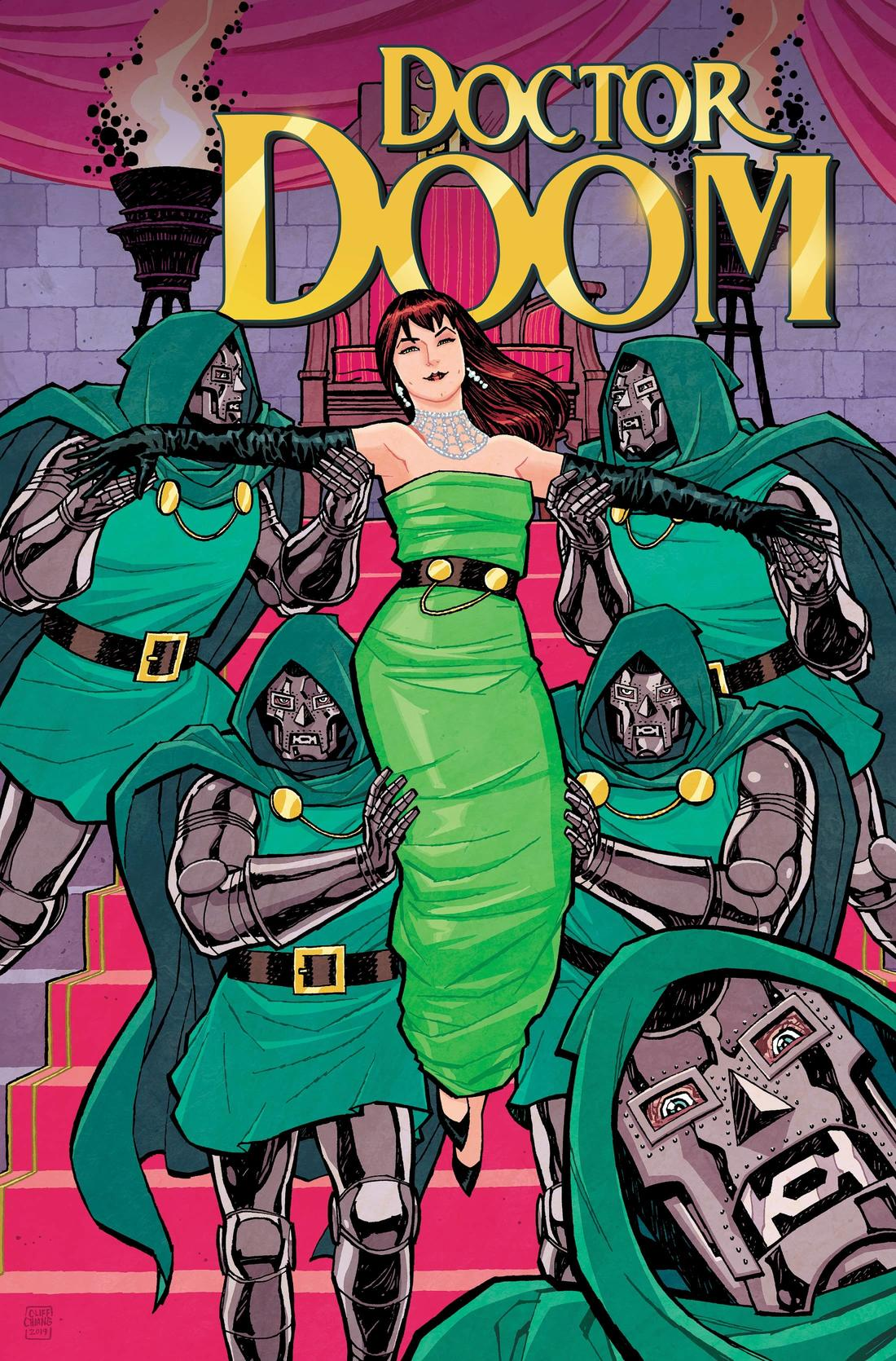DOCTOR DOOM #1 variant art by Cliff Chiang