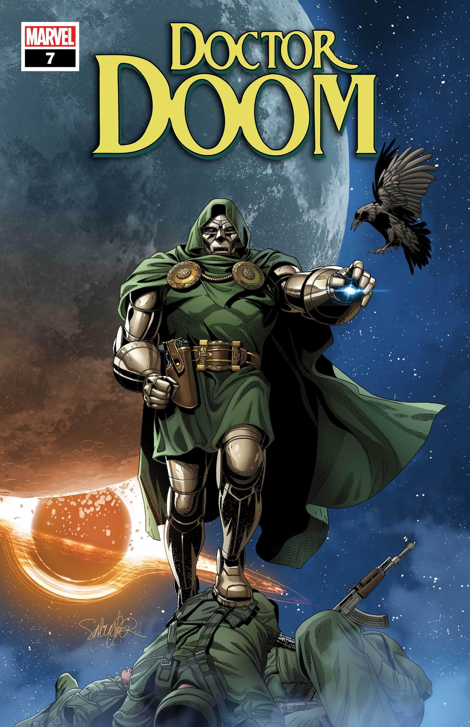 DOCTOR DOOM #7 WRITTEN BY CHRISTOPHER CANTWELL, ART AND COVER BY SALVADOR LARROCA