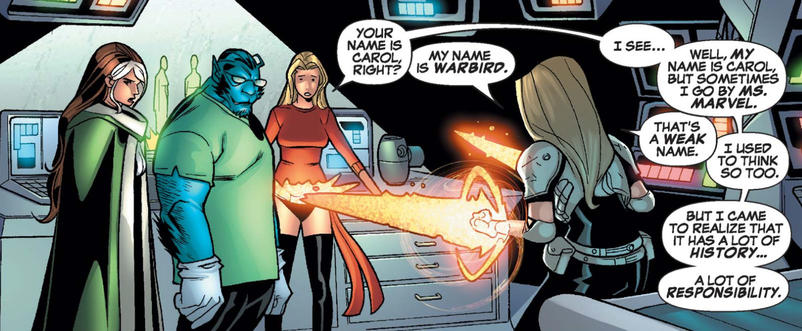 Carol, Rogue, and the Warbird doppelganger