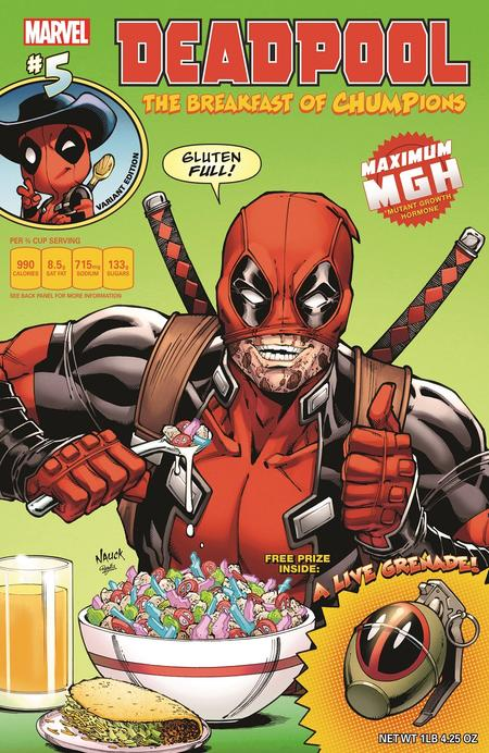 Deadpool #5 variant by Todd Nauck