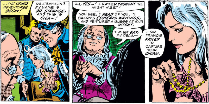 Doctor Strange meets Ben Franklin