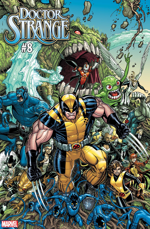 DOCTOR STRANGE #8 / UNCANNY X-MEN VARIANT COVER by Nick Bradshaw