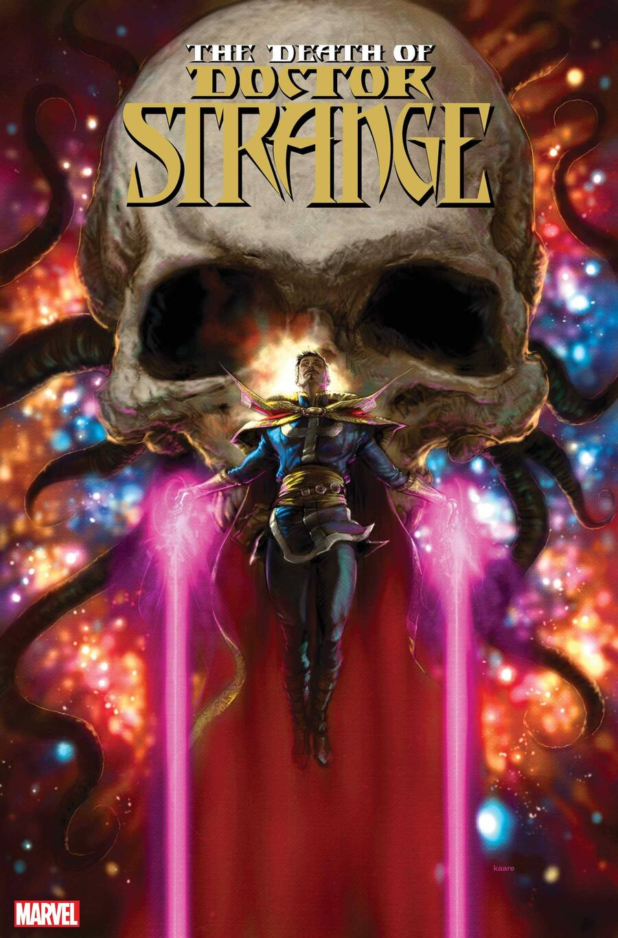 DEATH OF DOCTOR STRANGE #1 cover by Kaare Andrews