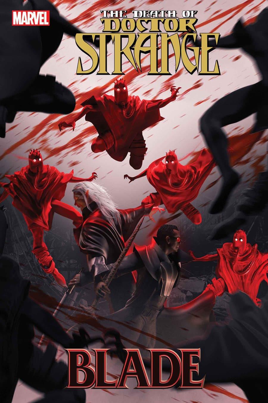 DEATH OF DOCTOR STRANGE: BLADE #1 cover by BossLogic