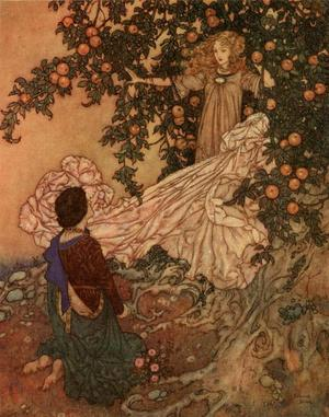 The Fairy Was Hidden in the Branches by Edmund Dulac