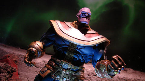 Image for New Thanos and Spider-Man Marvel Select Figures From Diamond Select Toys