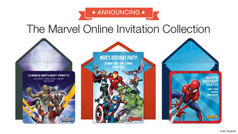 Image for Punchbowl Unveils Marvel Online Invitation Collection