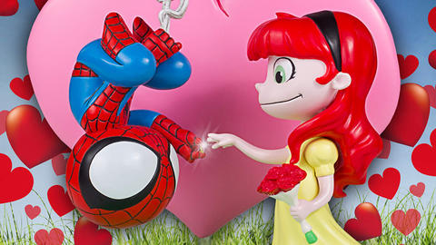 Image for Gentle Giant Ltd's New Spider-Man and Mary Jane Animated Statue Brings the 'Awww!'
