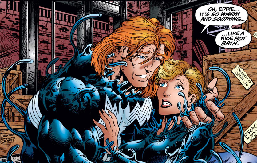 Eddie saves Anne with symbiote
