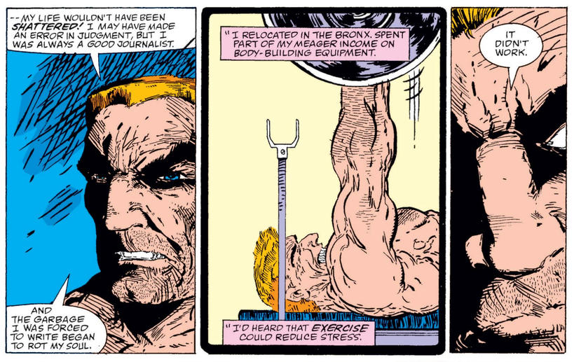 Eddie Brock weightlifting