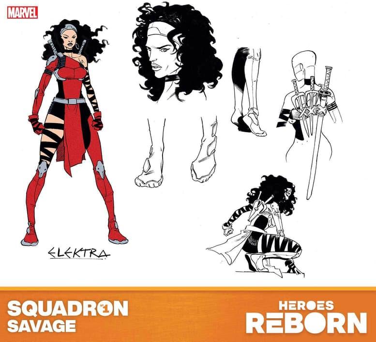 HEROES REBORN (2021) Elektra Design by Luca Pizzari