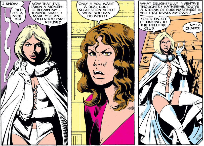 Emma Frost and Kitty Pryde