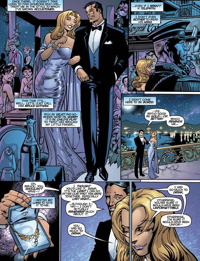 Emma out with her new man in Monte Carlo in X-MEN UNLIMITED (1993) #34.