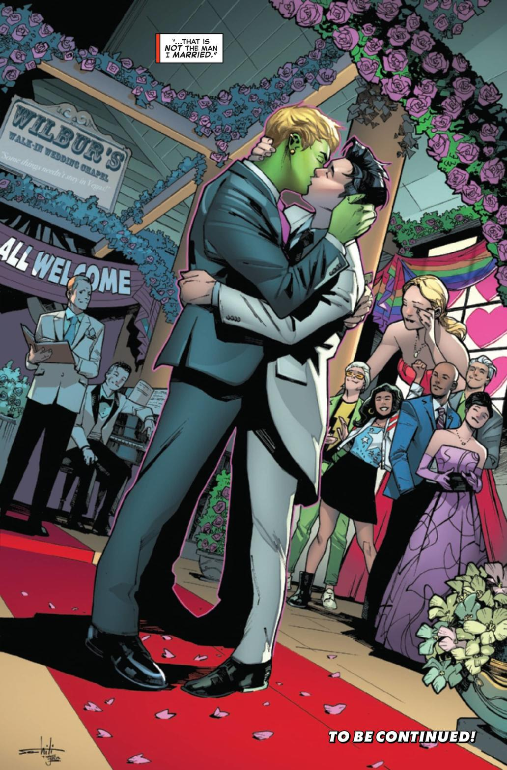 Hulkling and Wiccan's wedding