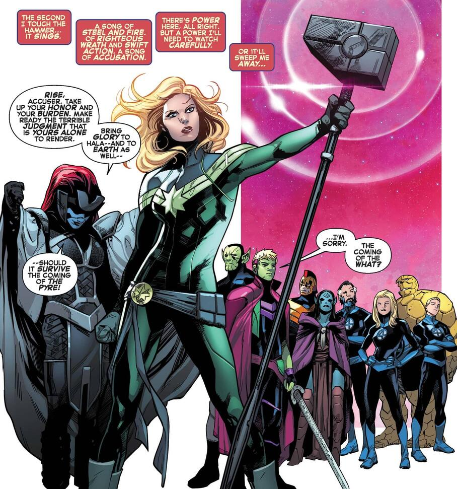 Captain Marvel becomes the new Kree Accuser