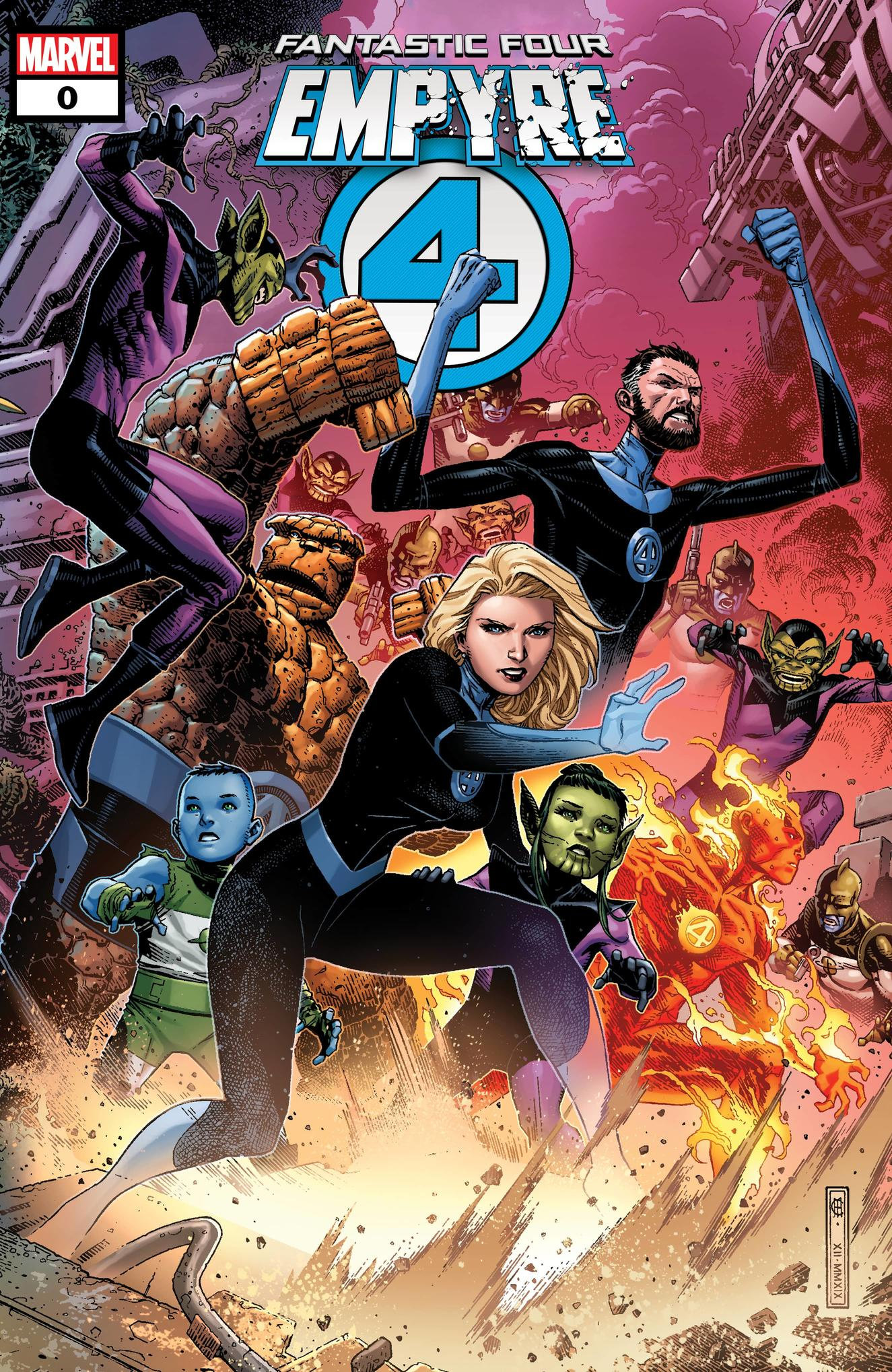 EMPYRE #0: FANTASTIC FOUR cover by Jim Cheung
