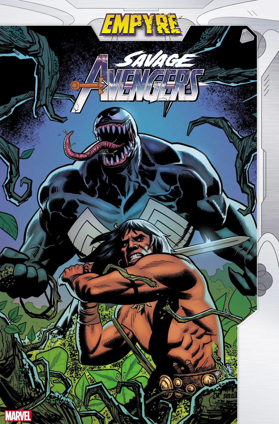 EMPYRE: SAVAGE AVENGERS #1 Written by GERRY DUGGAN with Art and cover by GREG SMALLWOOD