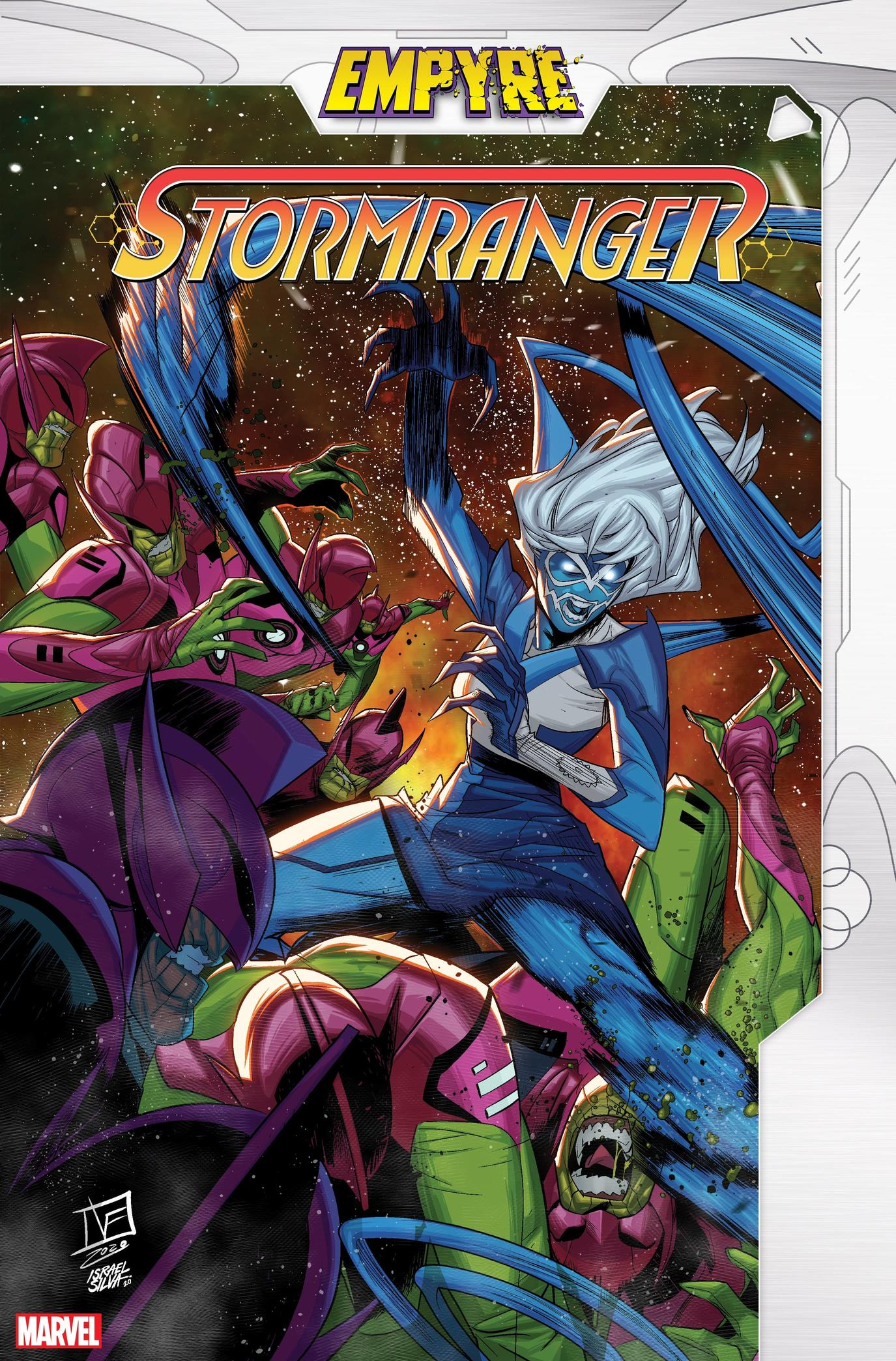 Empyre: Stormranger #1 (of 3) written by SALADIN AHMED with Art by STEVEN CUMMINGS and cover by FEDERICO VICENTINI