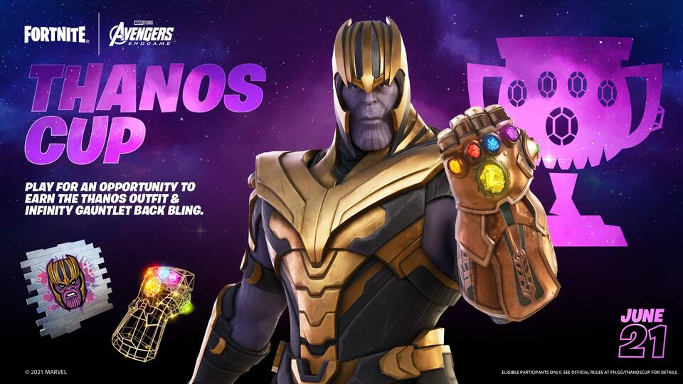 Play for the Thanos Cup in Fortnite