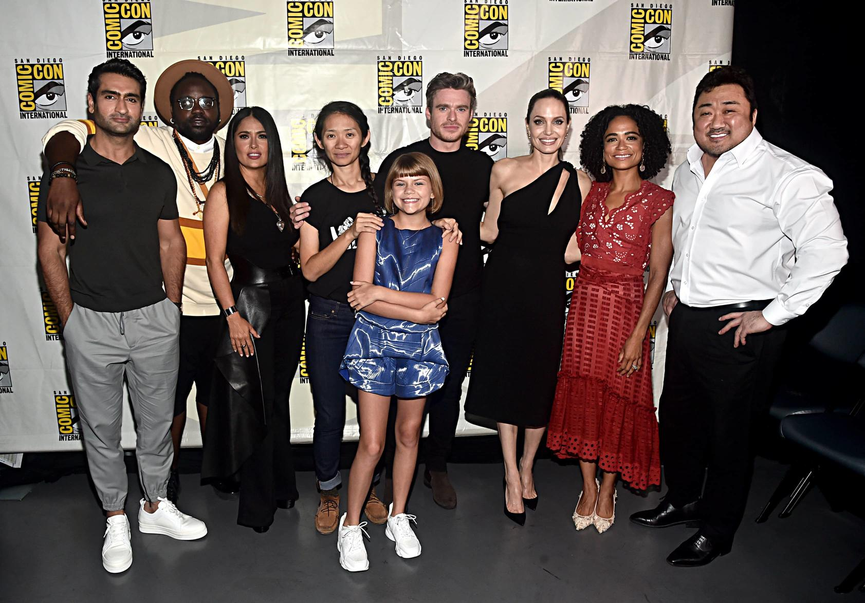 Chloé Zhao and the Cast of Eternals