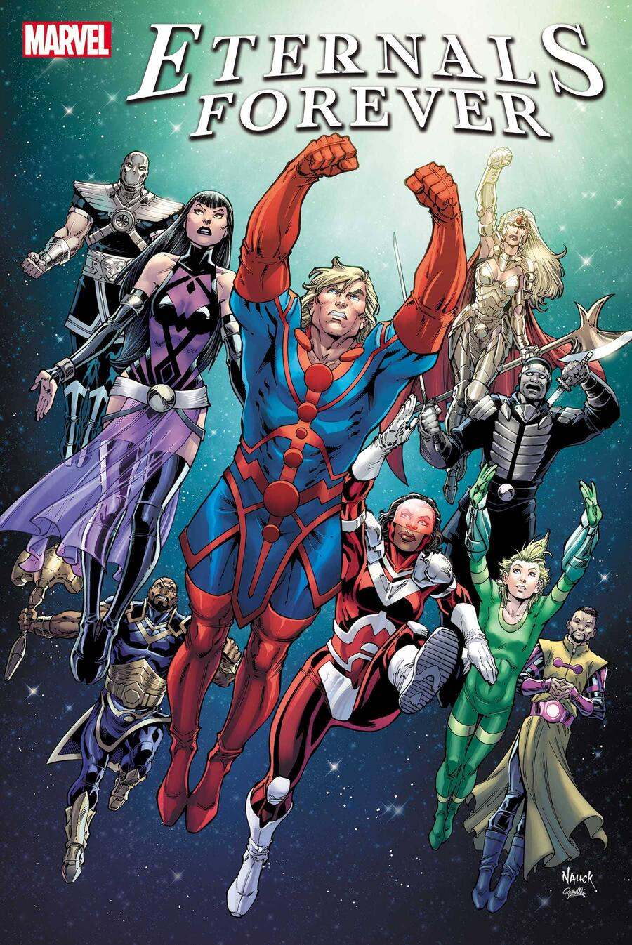 ETERNALS FOREVER #1 cover by Todd Nauck with colors by Rachelle Rosenberg