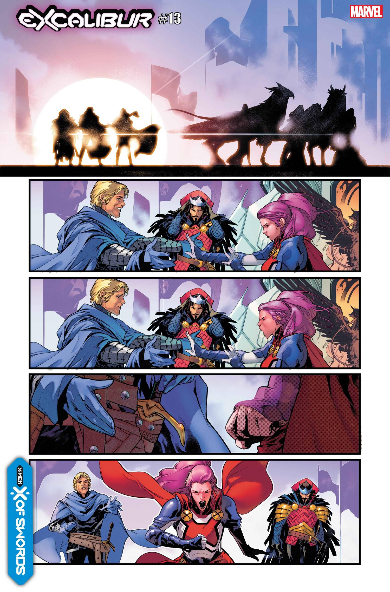 EXCALIBUR #13 preview interiors by R.B. Silva with colors by Nolan Woodard