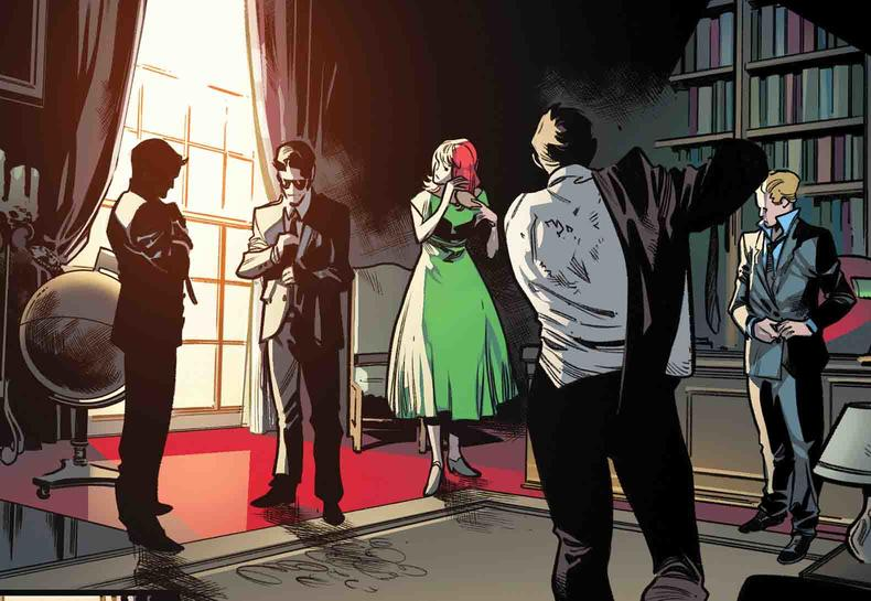Jean Grey in green dress, Extermination #5