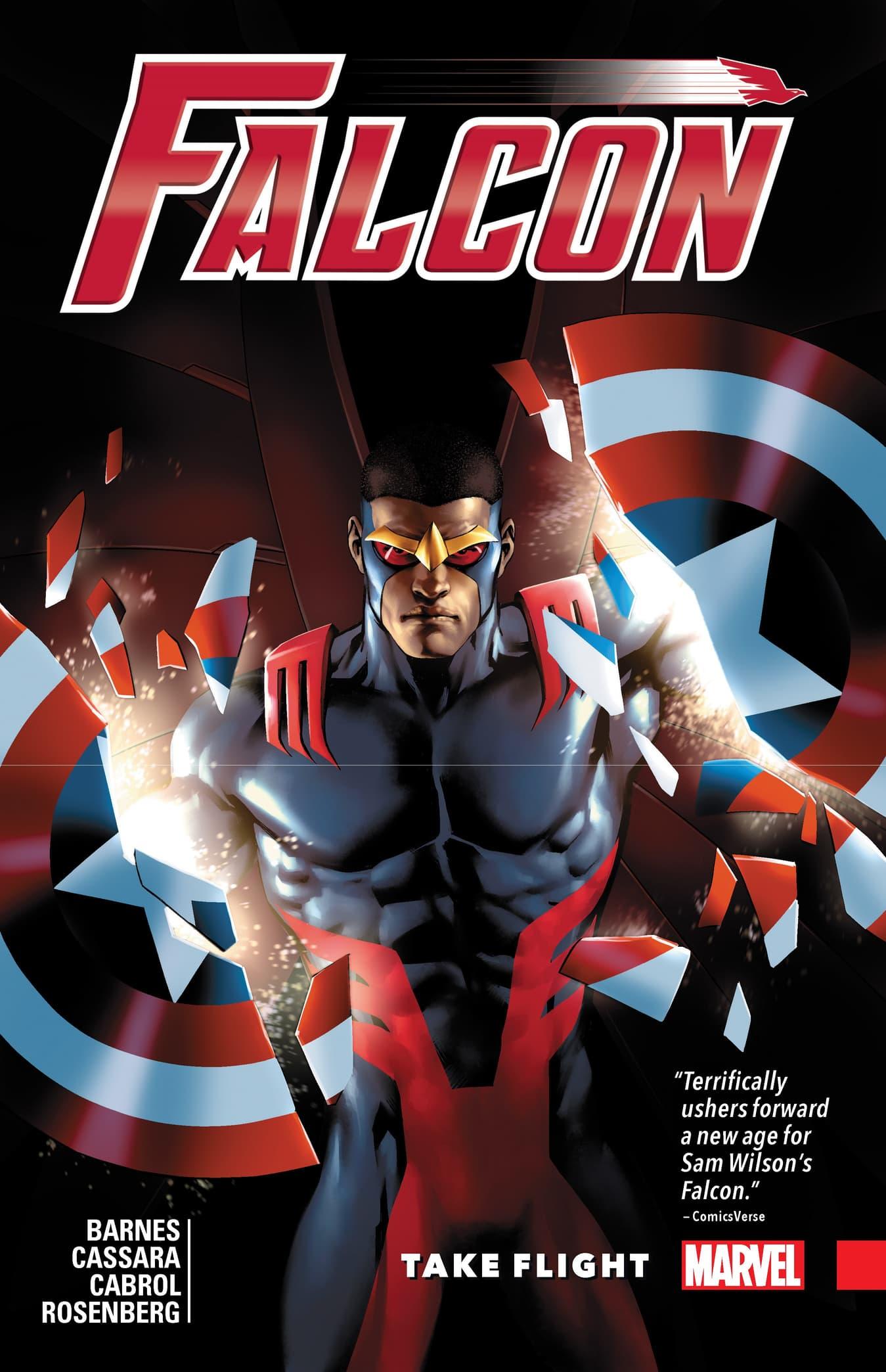 cover to Falcon: Take Flight.