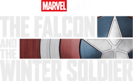 The Falcon and The Winter Soldier TV Show Season 1 Logo On Black