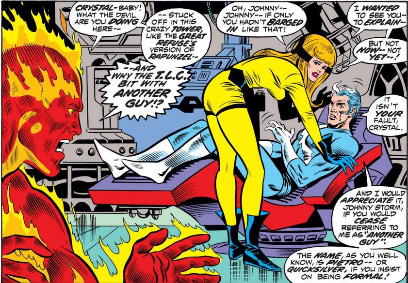 Johnny Storm not handling things well